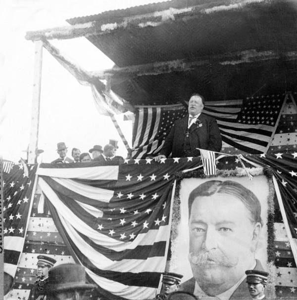 President Poster featuring the photograph President Taft Giving A Speech In Augusta - Georgia C 1910 by International Images