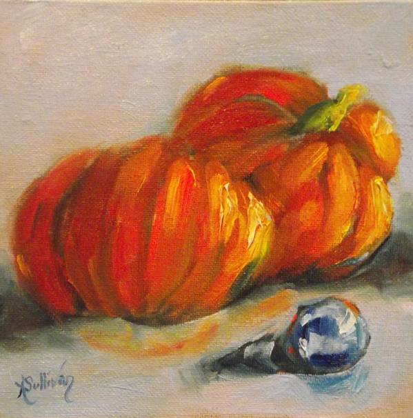 Pumpkin Poster featuring the painting Punkin Punkin by Angela Sullivan