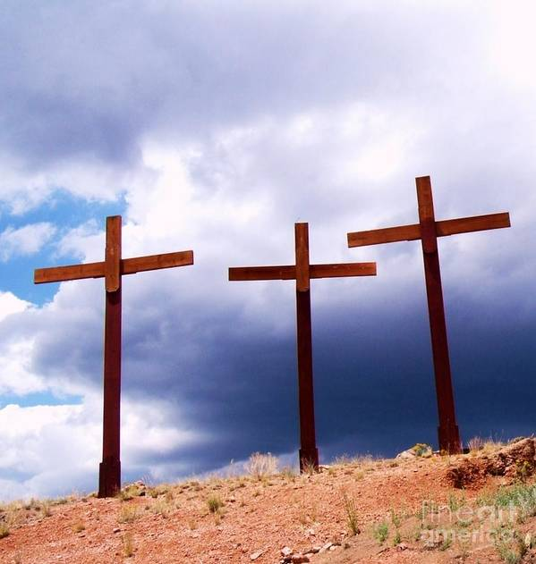 Crosses Poster featuring the photograph Refuge In A Time Of Storm by Donna Parlow