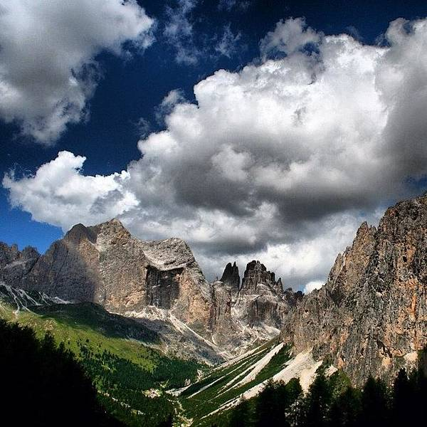 Clouds Poster featuring the photograph Rosengarten by Luisa Azzolini
