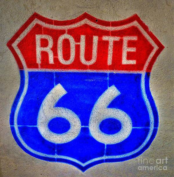 Route 66 Poster featuring the photograph Route 66 Wall Art-2 by Tommy Anderson