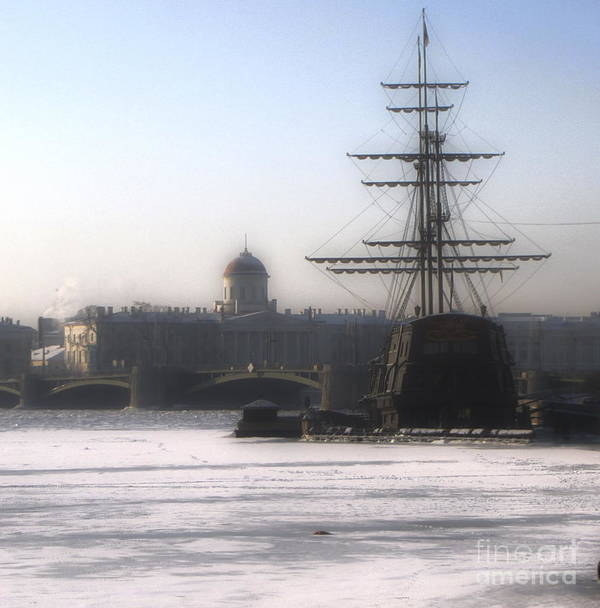 Ship Poster featuring the photograph Ship On Neva River by Yury Bashkin