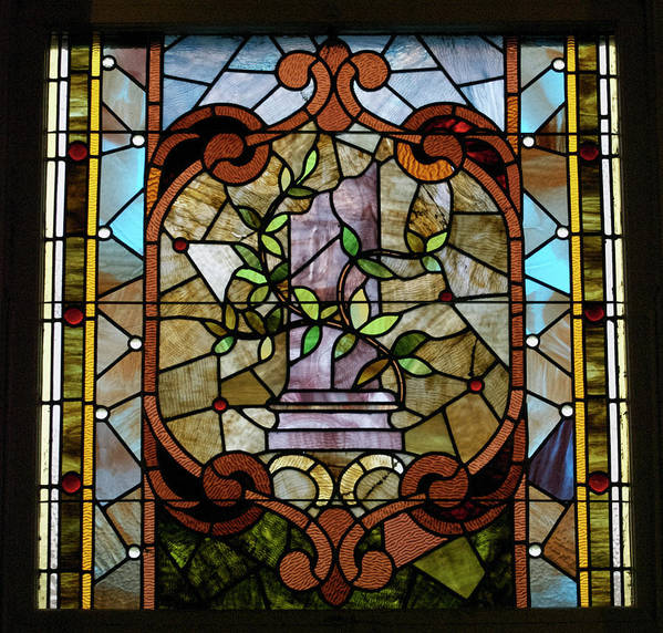 Glass Art Poster featuring the photograph Stained Glass Lc 12 by Thomas Woolworth