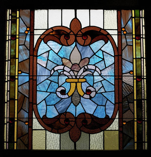 Glass Art Poster featuring the photograph Stained Glass Lc 19 by Thomas Woolworth