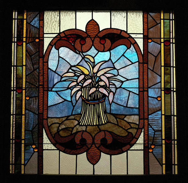 Glass Art Poster featuring the photograph Stained Glass Lc 20 by Thomas Woolworth