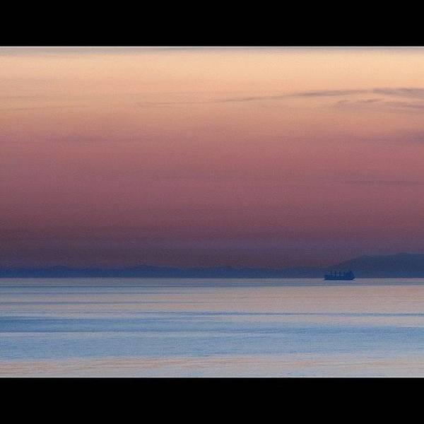 Pink Poster featuring the photograph Sunset #sea #landscape #sky #sunset by Anita Callister Jones