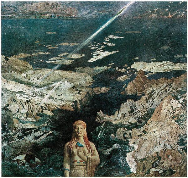 Leon Bakst Poster featuring the painting Terror Antiquus by Leon Bakst