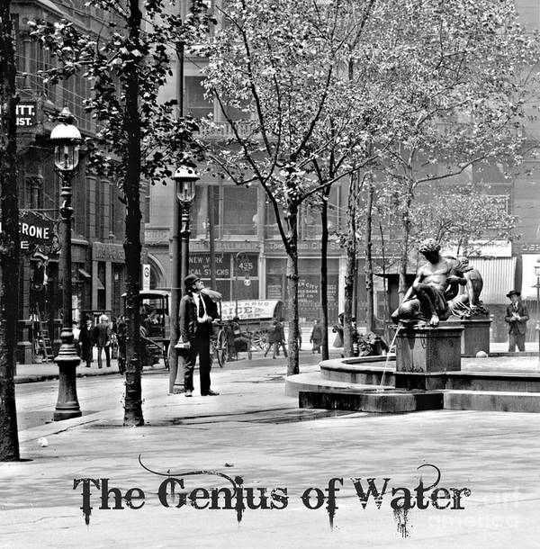 The Genius Of Water 1906 Poster featuring the photograph The Genius Of Water 1906 by Padre Art