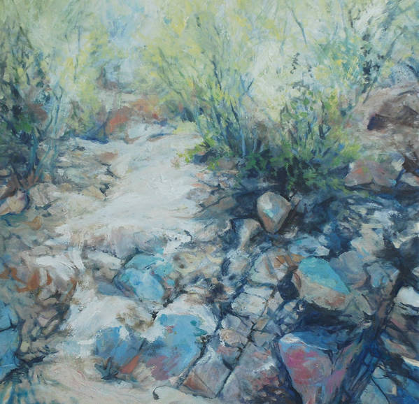 Desert Poster featuring the painting Trail Incline by Marilyn Muller
