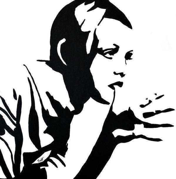 Twiggy Poster featuring the painting Twiggy by Jett Vivere