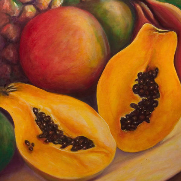 Twins Poster featuring the painting Twins Crop by Shannon Grissom