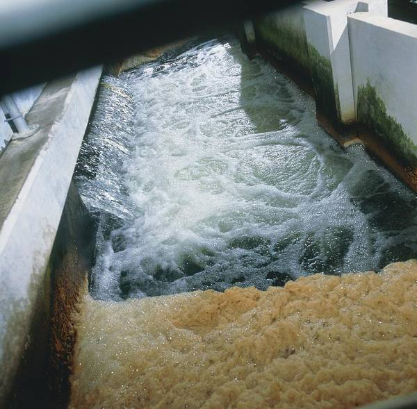 Waste Water Treatment Poster featuring the photograph View Of Flotation Waste Water Treatment by Tek Image