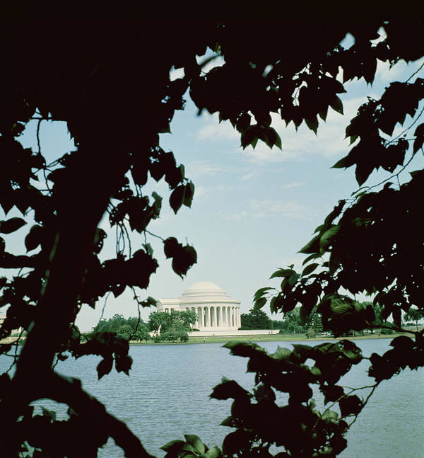 View Of The Jefferson Memorial Poster featuring the photograph View Of The Jefferson Memorial by John Russell Pope