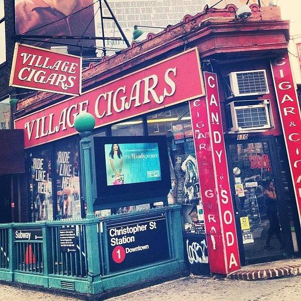 Summer Poster featuring the photograph Village Cigars by Randy Lemoine