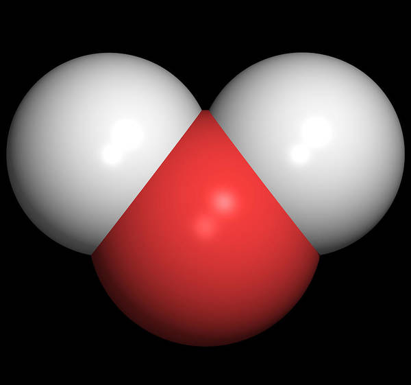 Water Poster featuring the photograph Water Molecule by Friedrich Saurer