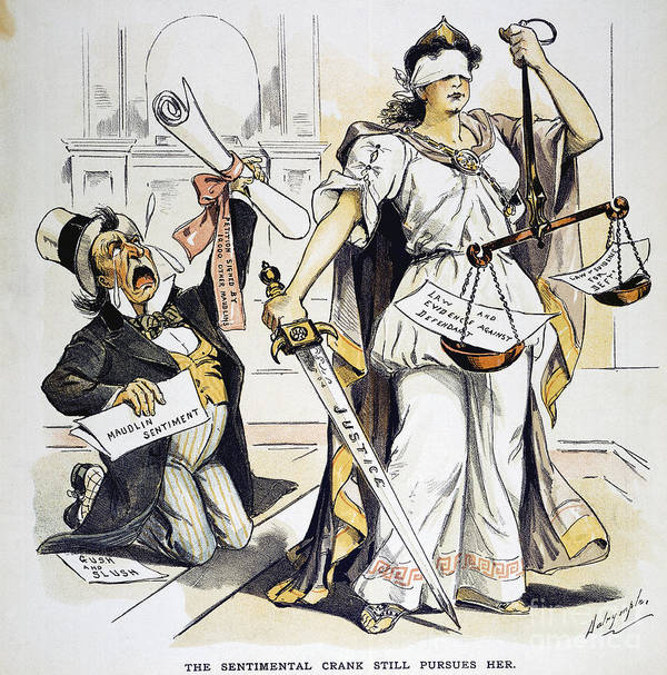 1893 Poster featuring the painting Justice Cartoon by Granger