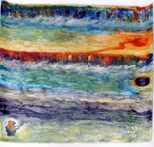 Miracle Poster featuring the painting A New Dawn.. by Rooma Mehra