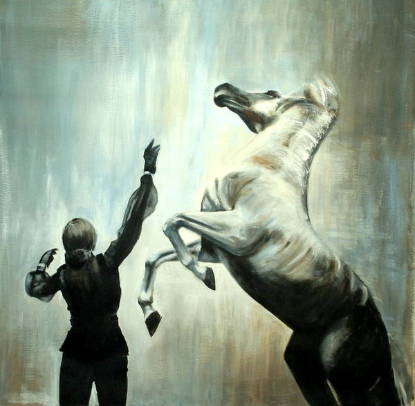 Horses Poster featuring the painting Amazing Grace by Fiona Jack