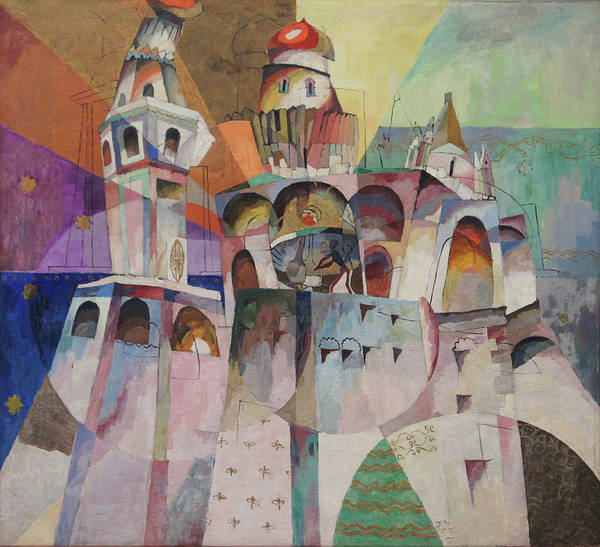 Russian Cubism Poster featuring the painting Bellringing. Ivan The Great Bell-tower. by Aristarkh Lentulov