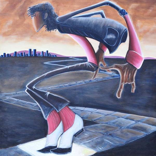 Mj Poster featuring the painting Billie Jean by Tu-Kwon Thomas