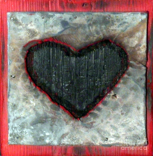 Love Poster featuring the sculpture Black Heart by Jane Clatworthy