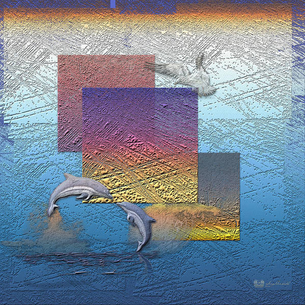 �from Dusk Till Dawn� Collection By Serge Averbukh Poster featuring the photograph Blue Lagoon Sunrise by Serge Averbukh