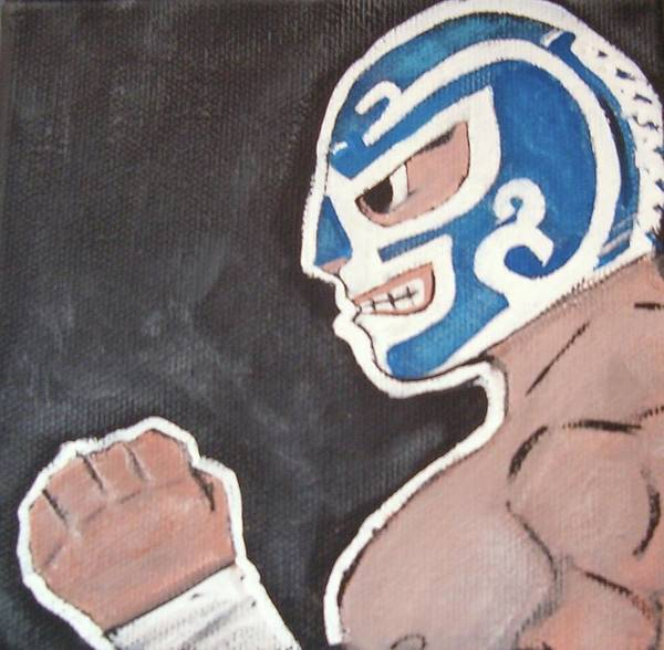Lucha Libre Poster featuring the painting Huracan Ramirez by Jose Garcia