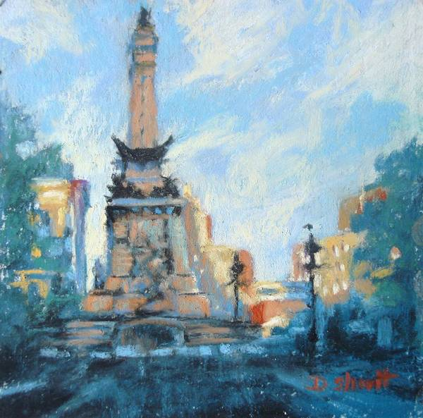 Indianapolis Poster featuring the painting Indy Circle Day by Donna Shortt