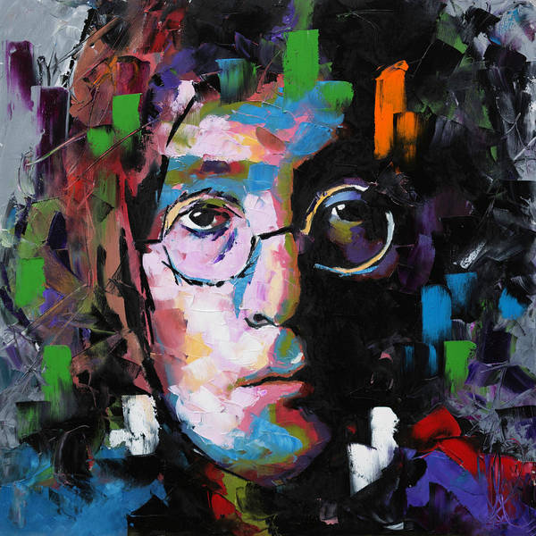 John Lennon Poster featuring the painting John Lennon by Richard Day