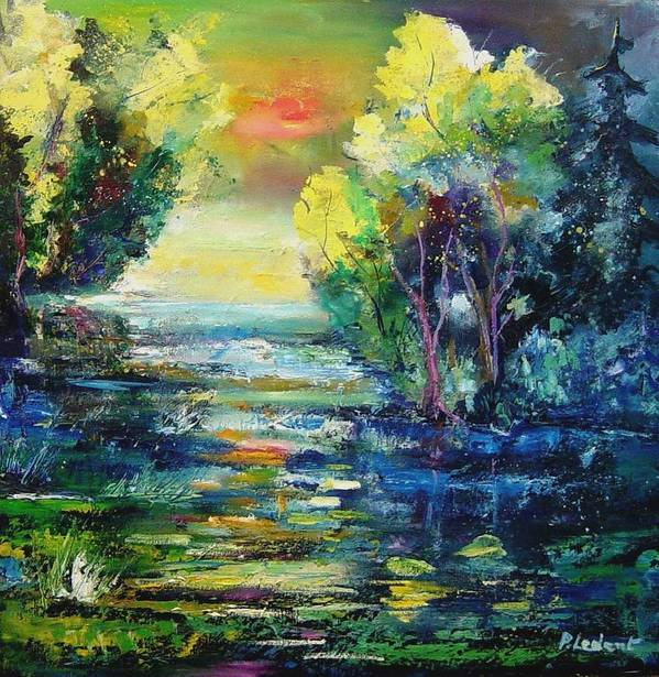 Pond Poster featuring the painting Magic Pond by Pol Ledent