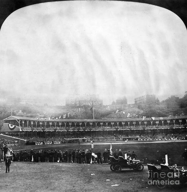 1906 Poster featuring the photograph New York: Polo Grounds by Granger