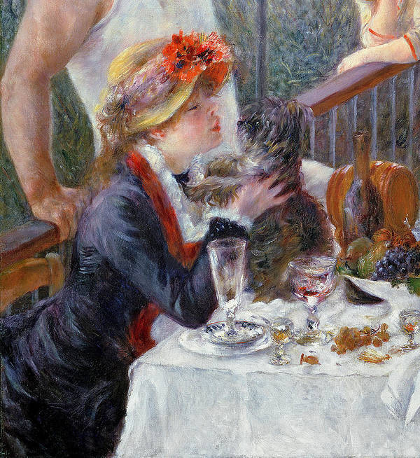The Poster featuring the painting The Luncheon Of The Boating Party by Pierre Auguste Renoir
