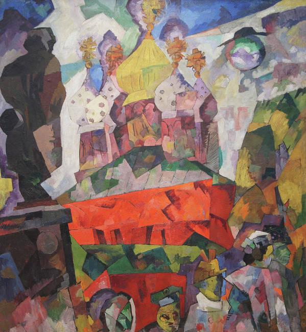 Aristarkh Lentulov Poster featuring the painting Tverskoy Boulevard by Aristarkh Lentulov