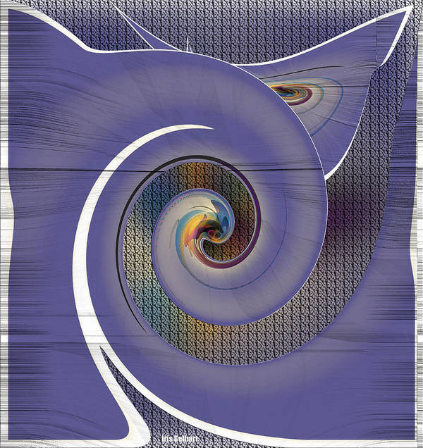 Abstract Poster featuring the digital art United by Iris Gelbart