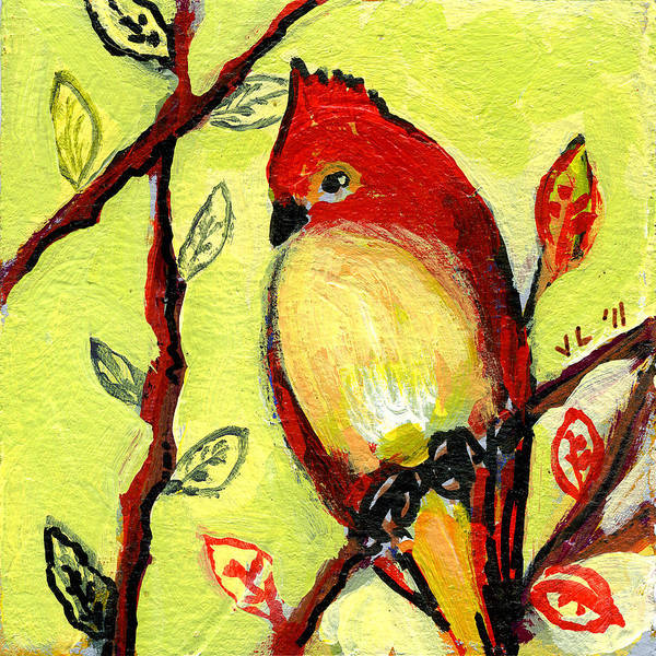 Bird Poster featuring the painting 16 Birds No 3 by Jennifer Lommers