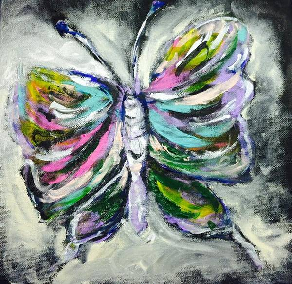 Butterfly Poster featuring the painting Butterfly by Hae Kim