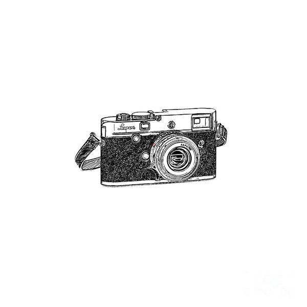 Analog Poster featuring the digital art Rangefinder Camera by Setsiri Silapasuwanchai