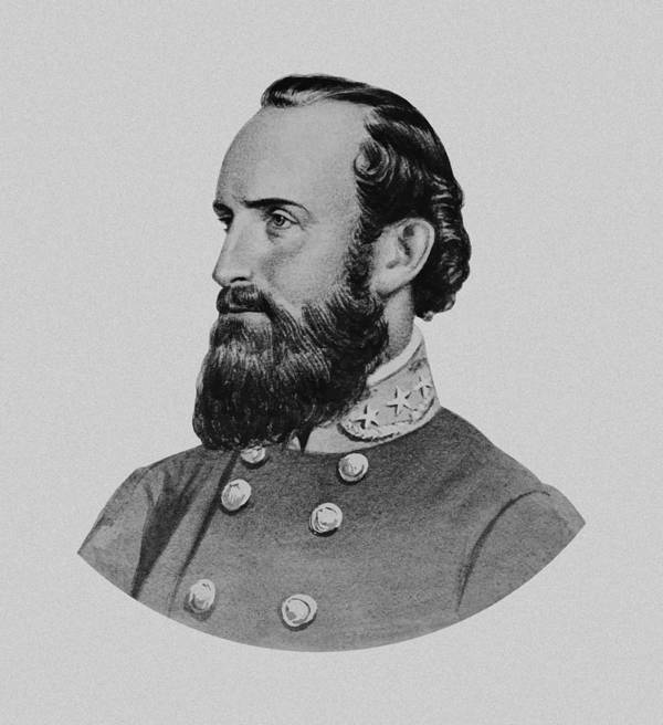 Stonewall Jackson Poster featuring the painting Stonewall Jackson by War Is Hell Store
