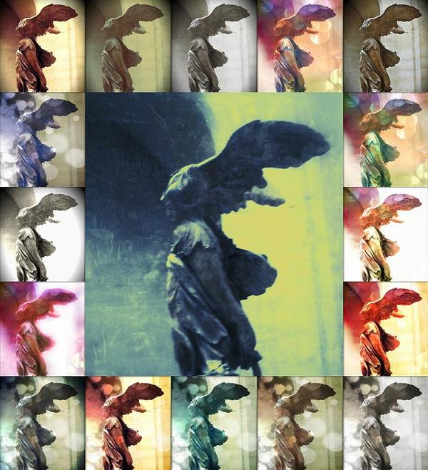 The Winged Victory Poster featuring the photograph The Winged Victory - Paris - Louvre by Marianna Mills