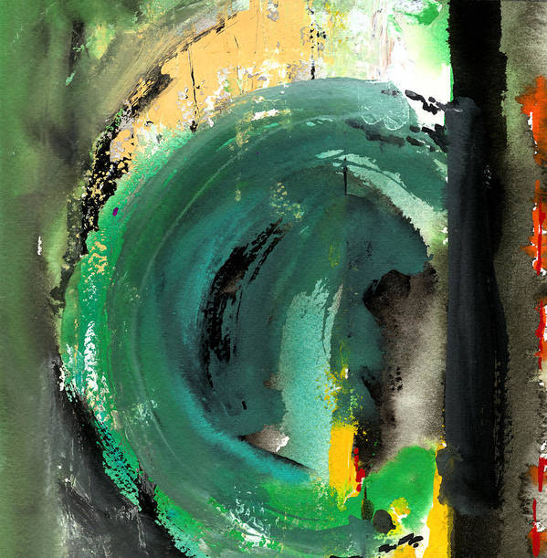 Watercolor Prints Abstract Painting Prints Contemporary Prints Watercolor Gouache Poster featuring the painting Vortex by Ralf M Broughton