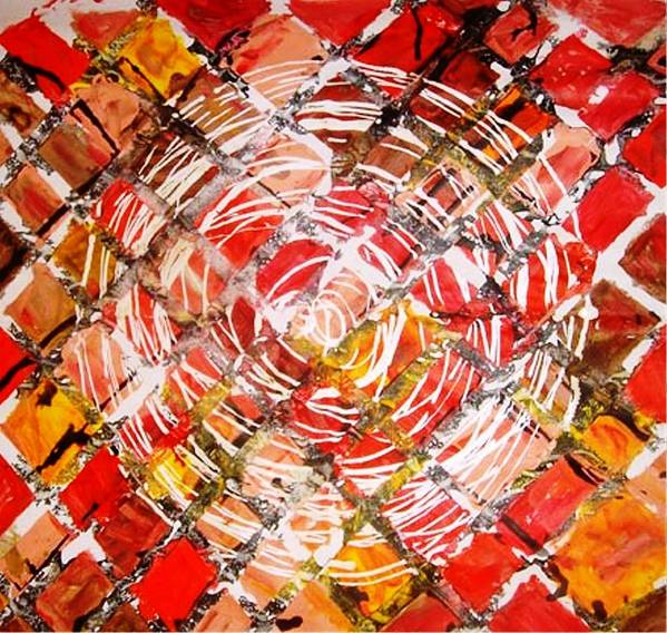 Circle Poster featuring the painting Life In Circle by Baljit Chadha