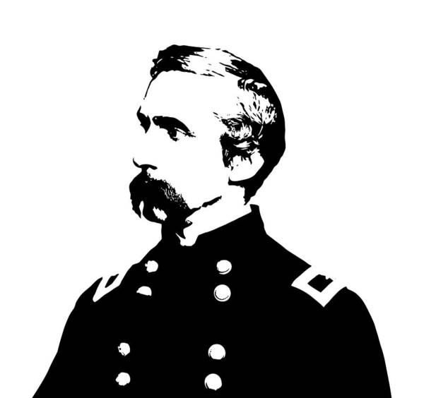 General Chamberlain Poster featuring the digital art Joshua Lawrence Chamberlain Graphic by War Is Hell Store