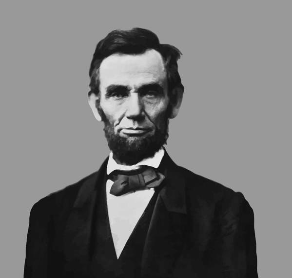 Abraham Lincoln Poster featuring the mixed media President Lincoln by War Is Hell Store