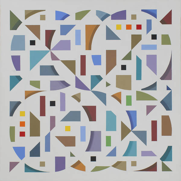 Abstract Geometric Painting Poster featuring the painting Untitled 10 by Marston A Jaquis