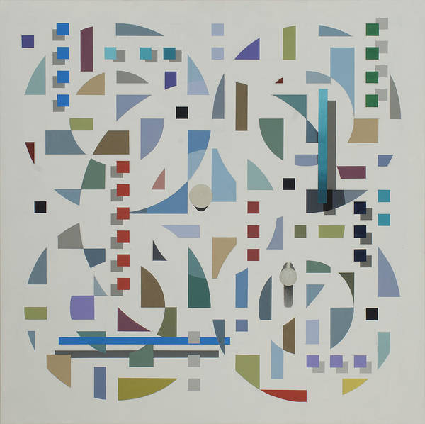 Abstract Geometirc Optical Illusion Painting Poster featuring the painting Untitled 6 by Marston A Jaquis