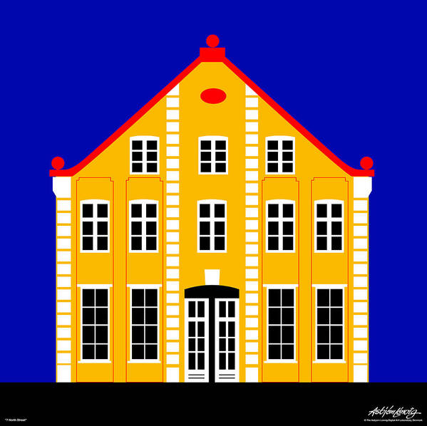 Architecture Poster featuring the digital art 7 North Street by Asbjorn Lonvig