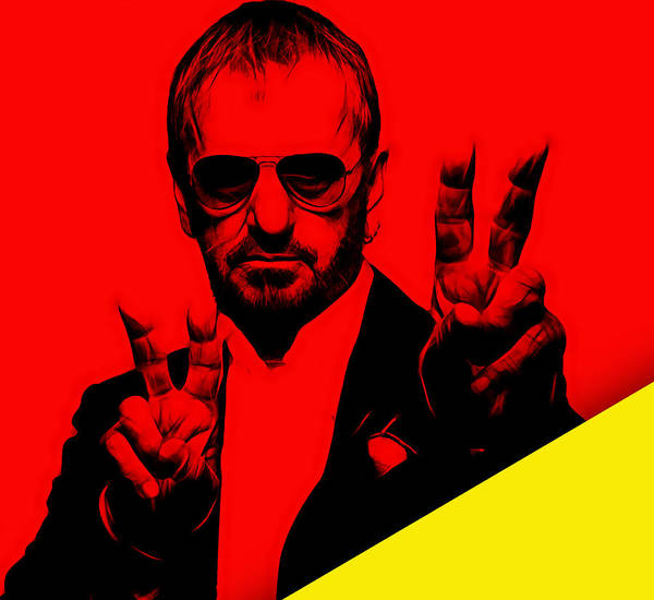 Ringo Starr Poster featuring the mixed media Ringo Starr Collection by Marvin Blaine