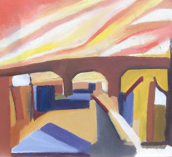 Painting Poster featuring the painting A Brooklyn Abstract by Ron Erickson