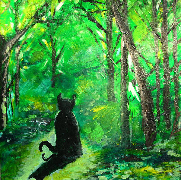Cat Poster featuring the painting A Purrfect Day by Seth Weaver