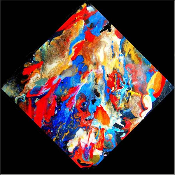 Abstract Poster featuring the painting Abstract - Evolution Series 1001 by Dina Sierra